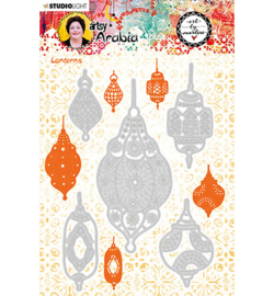 STENCILBM11 Art By Marlene Cutting & Embossing Die Artsy Arabia, nr.11