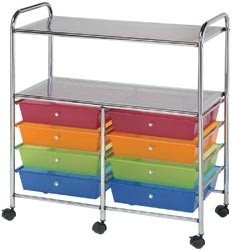 121461 Double Storage Cart Multi-Color