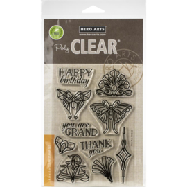 "573285 Hero Arts Clear Stamps 4""X6"" Deco-rations"