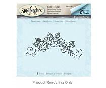 SBS-081 Spellbinders Flower Swag 5 Stamp