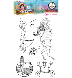 ABM-SFT-STAMP11 StudioLight ABM Clear Stamp Life's a beach So-Fish-Ticated nr.11