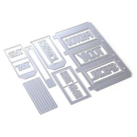EC1806 Elizabeth Craft Metal Die Planner Essentials 31 Slider Pockets