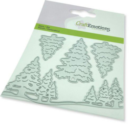 115633/0452 CraftEmotions Die - kerstbomen Card