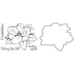 251981 Hero Arts Florals Clear Stamp & Die Combo Magnolia