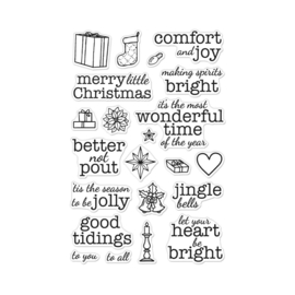 "638642 Hero Arts Clear Stamps Comfort & Joy Messages 4""X6"""