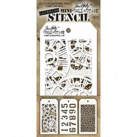 MTS 2 Tim Holtz Mini Layered Stencil Set #2