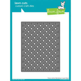 LF1927 Lawn Cuts Custom Craft Die Fancy Lattice Backdrop