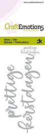 115633/0021 CraftEmotions Die Handletter - prettige kerstdagen (NL) Card 5x10cm Carla Kamphuis