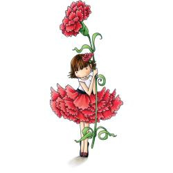 401921 Stamping Bella Tiny Townie Cling Stamp Garden Girl  Carnation