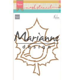 PS8017 Craft stencil: Autumn leaves by Marleen
