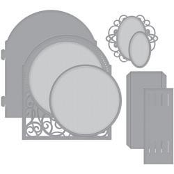 S6136 Spellbinders Shapeabilities Dies Grand Dome 3D Card