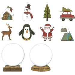 663119 Sizzix Thinlits Dies Tiny Snowglobes By Tim Holtz 11/Pkg