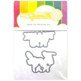 657045 Waffle Flower Die Thank You Matching