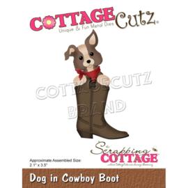 """CC894 CottageCutz Dies Dog In Cowboy Boot 2.1""""X3.5"""""""