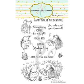 "C3AJ489 Colorado Craft Company Clear Stamps Hedgehog Day-By Anita Jeram 4""X6"""