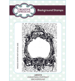 UMS819 Background Stamp Christmas Portrait