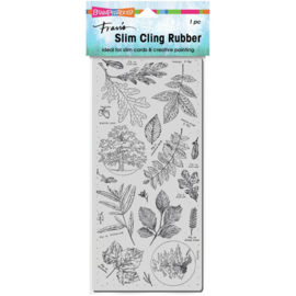 645684 Stampendous Cling Stamp Slim Leafy Trees