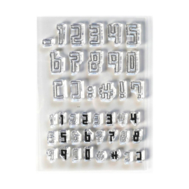 EC-CS211 Elizabeth Craft Clear Stamps Boxy Numbers