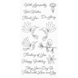 "CS473 My Favorite Things Clear Stamps 4""X8"" Happy Hummingbirds"