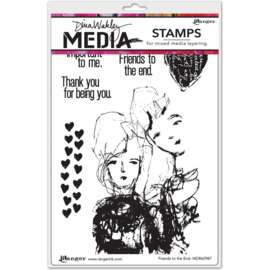 "343170 Dina Wakley Media Cling Stamps Friends To The End 6""X9"""