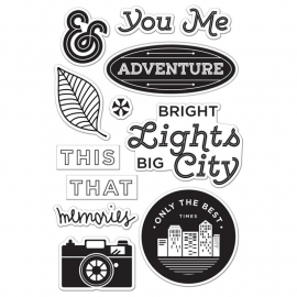 CL794 Basic Grey Second City Cling Stamps Bright Lights