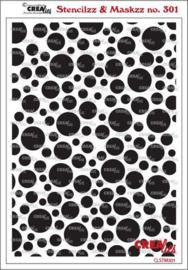 CLSTM301 Crealies Stencilzz/Maskzz Cirkels