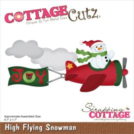 "CC919 CottageCutz Dies High Flying Snowman 4.1""X1.7"""