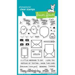 "LF1292 Lawn Fawn Clear Stamps Love Letters 4""X6"""