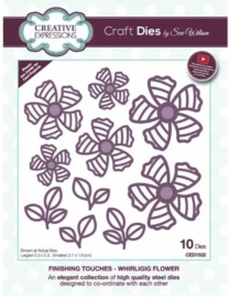 CED1532 Creative Expressions Finishing touches craft die Whirligig flower