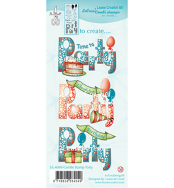 55.4049 Leane Creatief Clear Stamp  Combi  Party