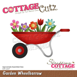 "CC749 CottageCutz Dies Garden Wheelbarrow 3.5""X2.3"""