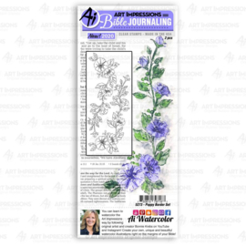 623322 Art Impressions Bible Journaling Clear Stamps Poppy Border