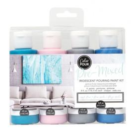 348503 American Crafts Color Pour pouring paint kit opal