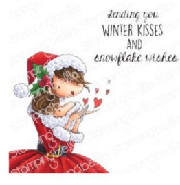 641986 Stamping Bella Cling Stamps Uptown Girl Katrina's Christmas Kisses