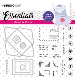 BASICSDC55 StudioLight SL Stamp & Cutting Die Rectangular envelope Essentials nr.55