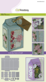 115633/1502 CraftEmotions Die candy box small Card A5 box