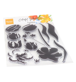 CS1054 Marianne Design clear stamp Colorful Silhouettes Tulips