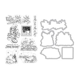 605530 Hero Arts Clear Stamp & Die Combo Winter Joy