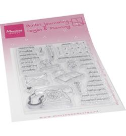 MZ1908 Marianne Design  Stempel Marjoleine's Bujo Dagen & Planning
