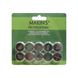 156462 Makin`s Professional Ultimate Clay Extruder Discs 10/Pkg