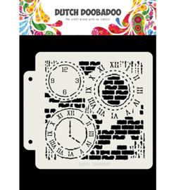 470.715.154 Dutch DooBaDoo Dutch Mask Grunge Clock