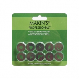 156463 Makin`s Professional Ultimate Clay Extruder Discs 10/Pkg