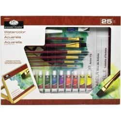 513905 Flat Easel Art Set Large Watercolor 25pc