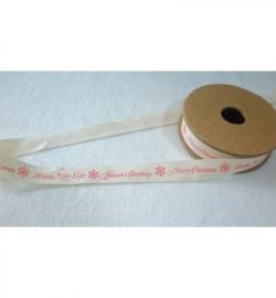 JU0868  Tekst ribbons Merry Christmas