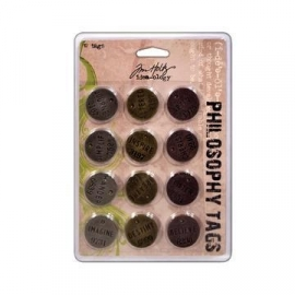 180003/1404 Tim Holtz Philosophy Tags 12 st.