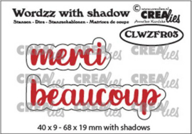 CLWZFR03 Crealies Wordzz with Shadow merci beaucoup