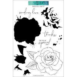 467206 Concord & 9th Clear Stamp Set Painted Rose