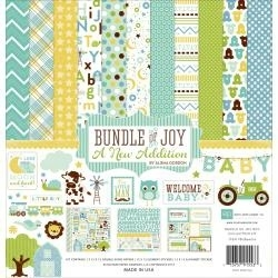 "125595 Echo Park Collection Kit  Bundle Of Joy/A New Addition - Baby Boy 12""X12"""