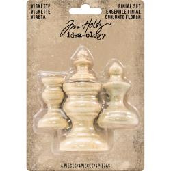 484783 Idea-Ology Wooden Vignette Finial Set Unfinished  4/Pkg