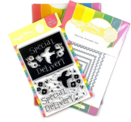 620178 Waffle Flower Stamp & Die Set Special Delivery